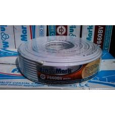 Антенный кабель finmark F660BV ,100м, белый,черный
